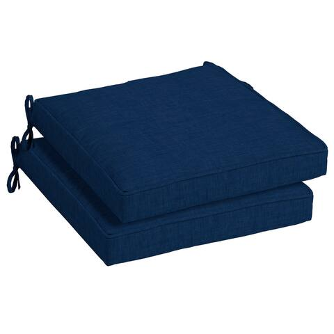Arden Selections Sapphire Leala Outdoor Seat Cushion Set (Set of 2) - 21 in L x 21 in W x 5 in H