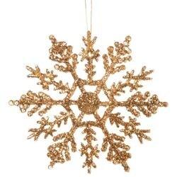 "Gold - Glitter Snowflake 4"" 10/Pkg"