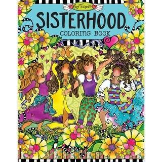 Design Originals-Sisterhood Coloring Book