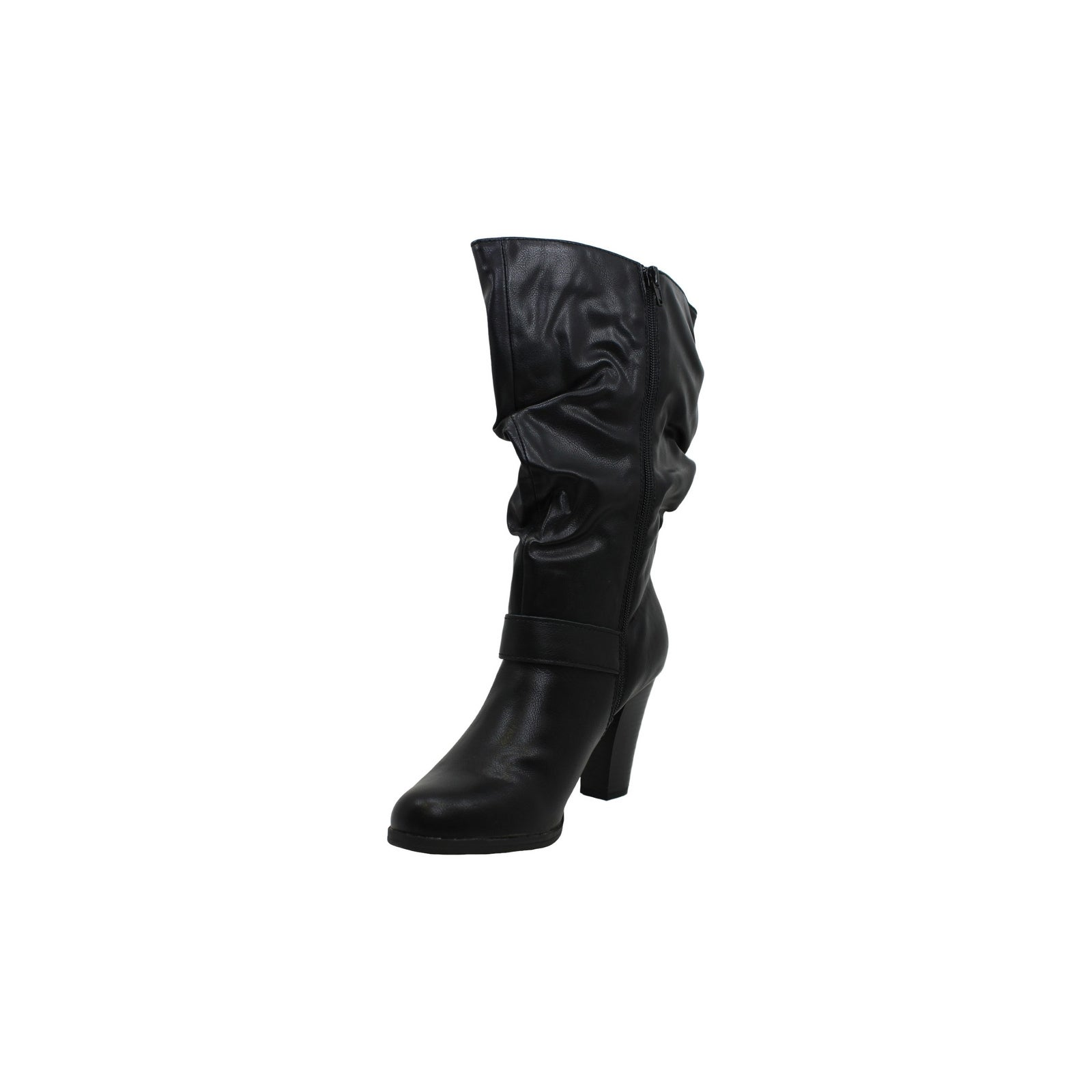 Women/'s Shoes Sachi Leather Almond Toe Mid-Calf Fashion Boots Style /& Co