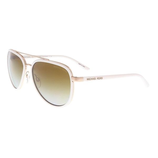 a688da63c7 Michael Kors MK5006 1038T5 PLAYA NORTE White Gold Aviator Sunglasses -  57-16-