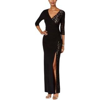 R&M Richards Womens Evening Dress Lace Slit