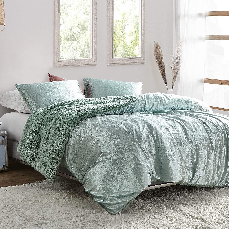Velvet Crush Coma Inducer Oversized Comforter Crinkle Iced Green Overstock 31665474 Twin Xl
