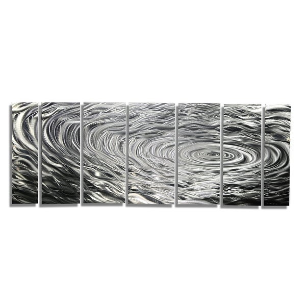 Statements2000 Silver Modern Etched Metal Wall Art Sculpture by Jon Allen - Ripple Effect