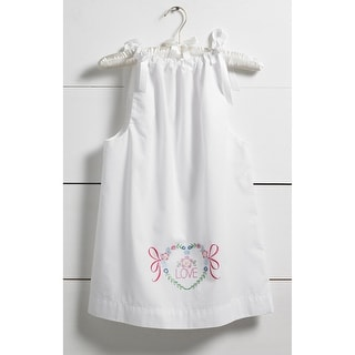 Love Pillowcase Dress Stamped For Embroidery Kit-Size 3-8