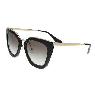 Prada PR 53SS 1AB0A7 Black Cat Eye Sunglasses