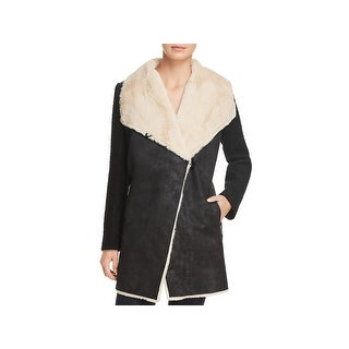 Calvin Klein Womens Midi Coat Fall Flyaway