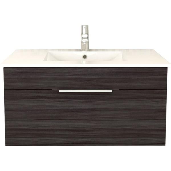36 Carrara White Marble Top Bathroom