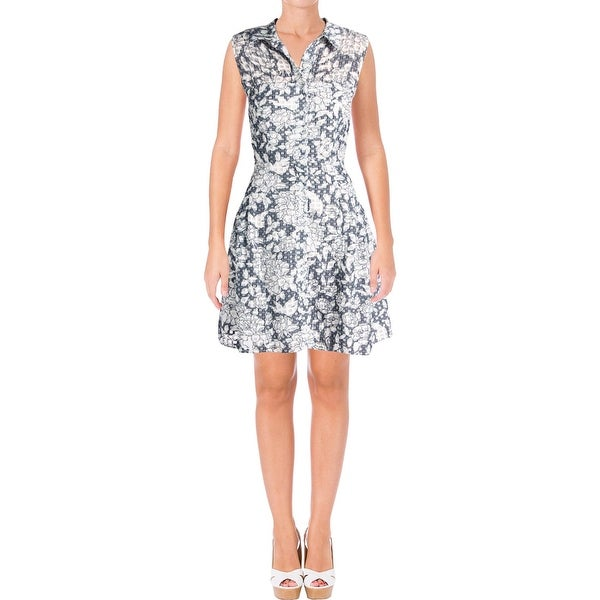 6867f37d6b6 Shop Betsey Johnson Womens Shirtdress Burnout Fit   Flare - Free Shipping  Today - Overstock - 22366453