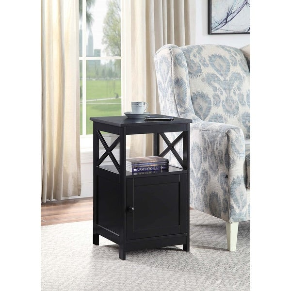 Copper Grove Kremenchuk End Table with Cabinet. Opens flyout.