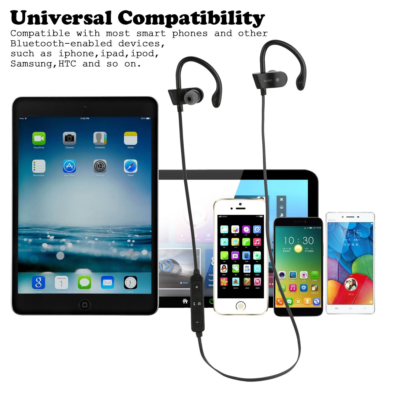 Waterproof Bluetooth Earbuds Beats Sports Wireless Headphones in Ear  Headsets,color Black