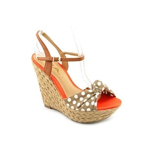 Mia Spring Women Open Toe Canvas Wedge Sandal