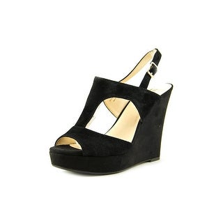 INC International Concepts Vangee Open Toe Suede Wedge Heel