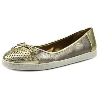 J. Renee Marenda Round Toe Leather Flats