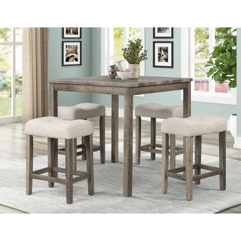 Best Master Furniture 5 Pieces Square 36 x 36 Counter Height Set