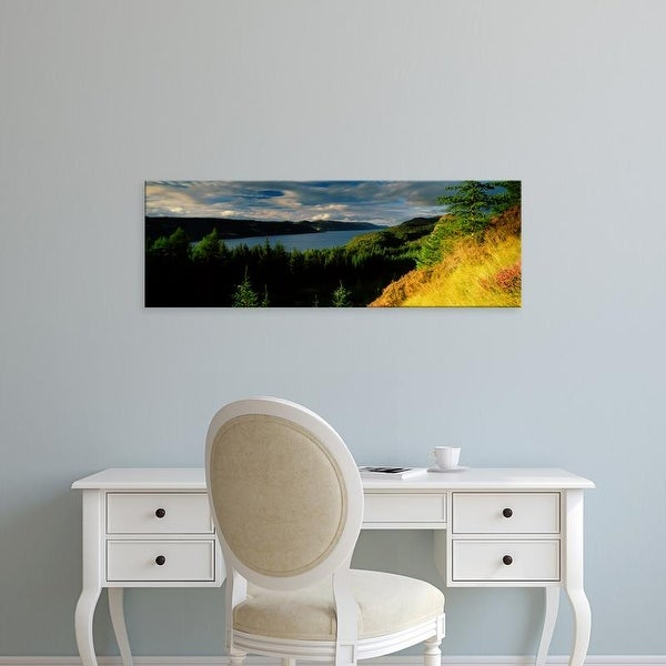 Easy Art Prints Panoramic Images's 'Trees on a landscape, Loch Ness, Farigaig Forest, Inverness