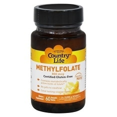 Country Life Vitamins Methyl Folate 800Mcg Lozenges 60 Lozenges