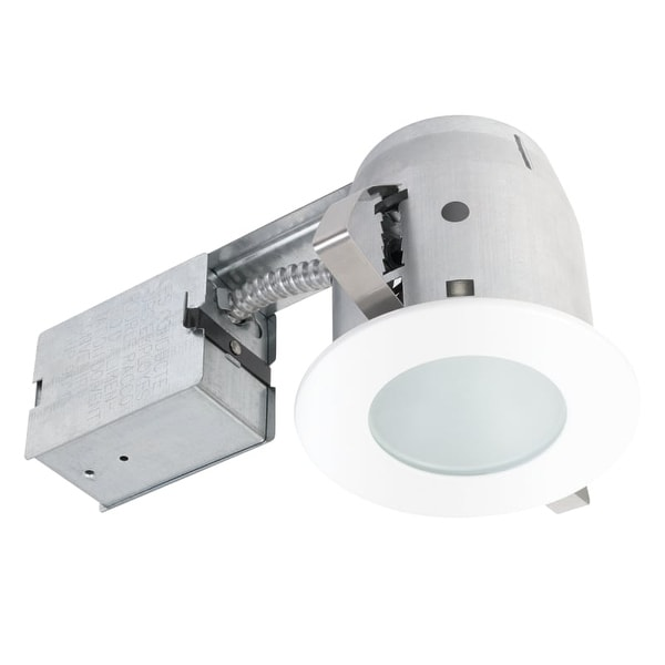 Globe Electric 90663 1 Light Recessed Lighting Kit Includes Trim, Housing / Can, Patented Clip System and Electrical Box