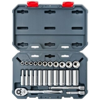 "Crescent CSWS8 3/8"" Drive SAE Socket Wrench Tool Set, 25 Piece"