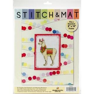 "Design Works Stitch & Mat Counted Cross Stitch Kit 3""X4.5""-Llama (18 Count)"