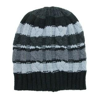 Scala Boys' Striped Knit Beanie Cap
