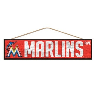 Miami Marlins Sign 4x17 Wood Avenue Design