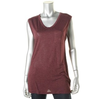 T by Alexander Wang Womens Jersey Scoop Neck Muscle Tank - S