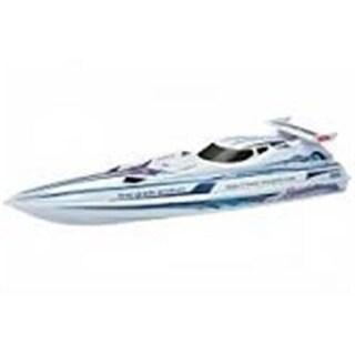Az Import & Trading BTXC White Speed-X Cyclone Racing Boat - 36 in.