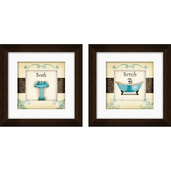 PTM Images 1-17005 Whimsical Bathroom Wall Art (Set of 2) - ESPRESSO - N/A