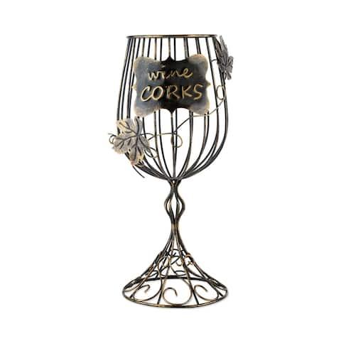 "Wine Glass Cork Display - Metallic - 13.75"" x 5.75"""