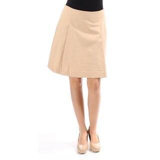 RALPH LAUREN $90 Womens 1146 Beige Pleated A-Line Casual Skirt 2 B+B