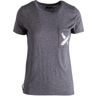 Umano Womens Juniors T-Shirt Micromodal Graphic