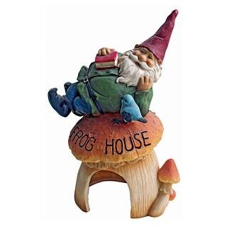 Design Toscano Gnome Frog House Garden Statue