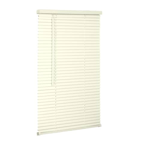 "1"" Cordless Vinyl Mini Blind - Alabaster"
