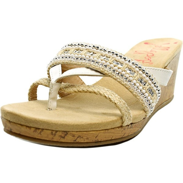 Jellypop Lacey Women Open Toe Canvas Wedge Sandal