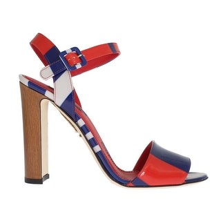 Dolce & Gabbana Multicolor Leather Ankle Strap Sandals