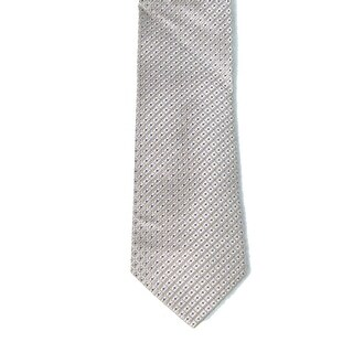 Michael Kors NEW Beige Mens One Size Geometric Classic Neck Tie Silk