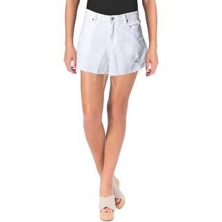 Denim & Supply Ralph Lauren Womens Cutoff Shorts Destroyed White Wash - 29