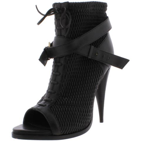 BCBGMAXAZRIA Womens Gia Leather Ankle Booties