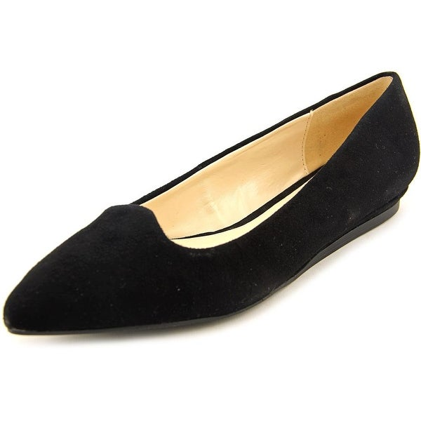 Isaac Mizrahi Rosy Women  Pointed Toe Suede Black Flats