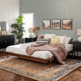 Link to Carson Carrington King Size Solid Wood Platform Bed Similar Items in Bedroom Furniture