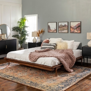 Carson Carrington King Size Solid Wood Platform Bed