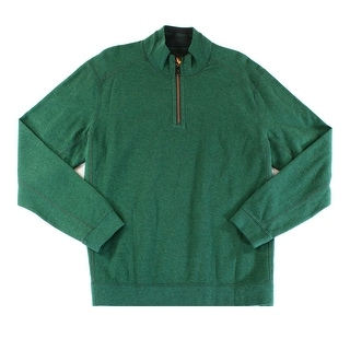 Tommy Bahama NEW Green Mens Size Large L Texture Quarter Zip Sweater