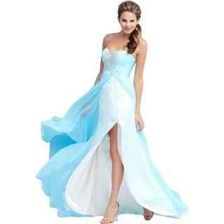 Mac Duggal Womens Chiffon Prom Formal Dress