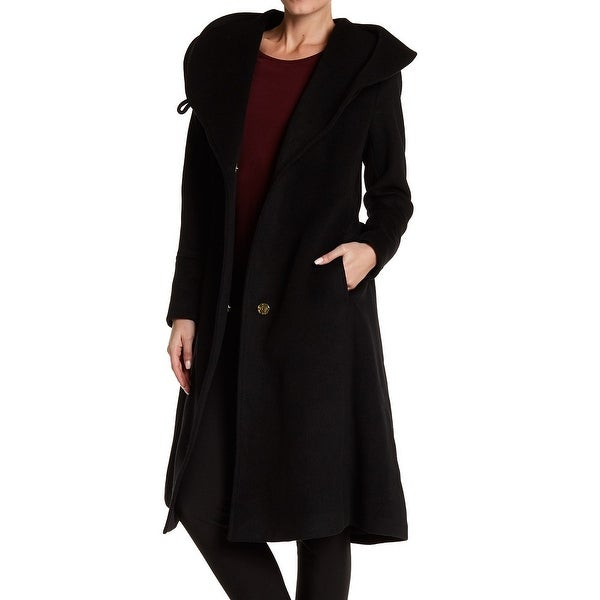Cole Haan Women's Belted Shawl-Collar Long Coat
