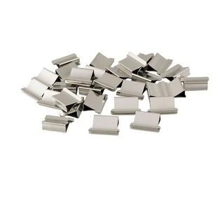 Unique Bargains Unique Bargains Office T-225 Paper Alternative Metal Clam Fast Clips Refill 30 Pcs