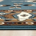 "Allstar Light Blue Woven High Quality Rug. Traditional. Persian. Flower. Western. Design Area Rug (3' 9"" x 5' 1"") - Thumbnail 4"