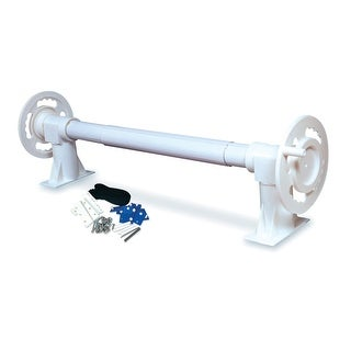 White HydroTools Above-Ground Swimming Pool Solar Blanket Reel System - N/A