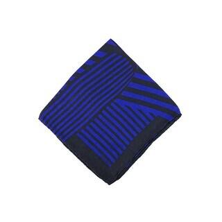 Tom Ford Purple Black Abstract Stripe Silk Pocket Square