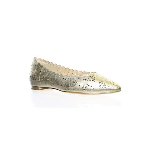 Cole Haan Womens Callie Gold Ballet Flats Size 6.5